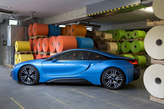 BMW i8 at GMUND Büttenpapierfabrik for Journal International